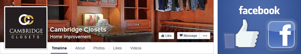 Cambridge Closets on Facebook
