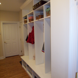 Custom Mudroom Organization