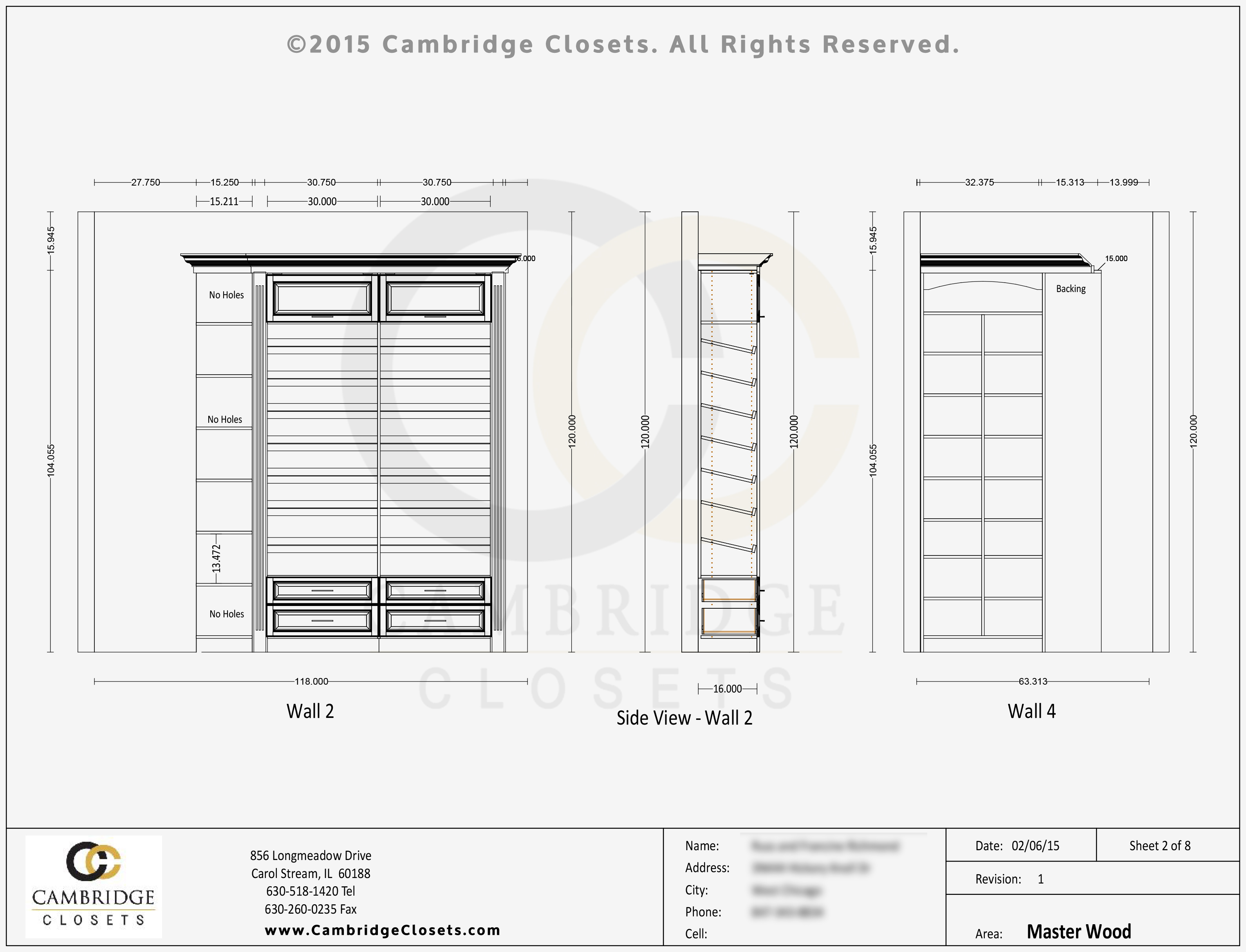 Cambridge Closets Design - 3D Preview