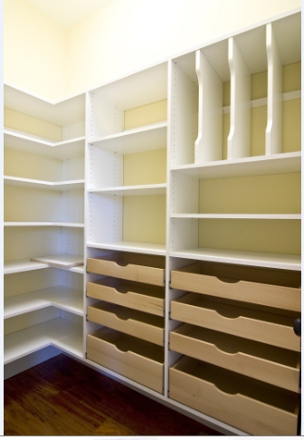 Pantry with Birch Scoop Pull Outs